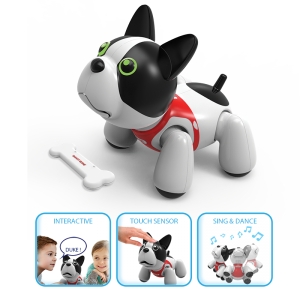 A new Friend of PUPBO! Duke can learn different tricks via your personalized voice commands.